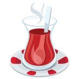 Turkish Tea Glass Vector Illustration Stock Photo