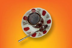 Turkish tea isolated top view. Tea isaloted royalty free stock images