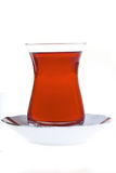 Turkish Tea with Plate Stock Image
