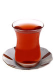 Turkish Tea with Plate Stock Photography