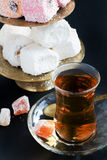 Turkish Tea and sweets Royalty Free Stock Photos