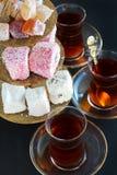 Turkish Tea and sweets Stock Photo