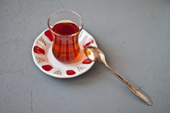 Turkish tea in traditional glass Royalty Free Stock Photography