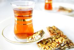 Turkish tea in traditional glasses Royalty Free Stock Photography