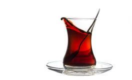 Turkish Tea. Traditional turkish tea just before spilling Royalty Free Stock Photo