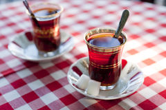 Turkish tea in traditional teacups Royalty Free Stock Photography