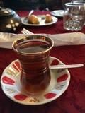 Turkish tea. Apple flavor stock photos