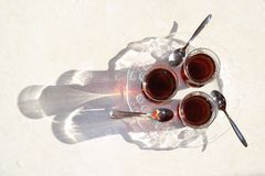Turkish tea, Turkish teas, healthy tea, Turkish tea in particular thin glass Royalty Free Stock Image