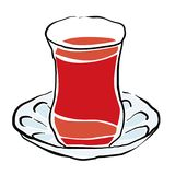 Turkish tea vector Royalty Free Stock Photography