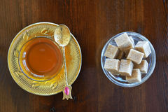 Turkish teacup and sugar Royalty Free Stock Photo