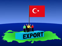 Turkish team on container Royalty Free Stock Photos