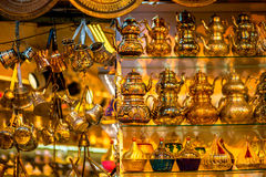 Turkish teapots. Hanging in Grand Bazaar in Istanbul Royalty Free Stock Photo