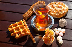 Turkish tee, delights and bakery Royalty Free Stock Photography