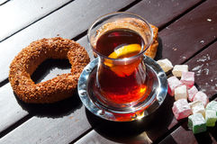 Turkish tee, delights and bakery Stock Image