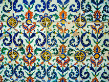 Turkish tile 3. A close of a typical turkish tile Stock Image