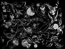 Turkish Tile Motif Drawing royalty free stock photo