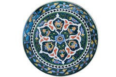 Turkish tile plate Royalty Free Stock Images