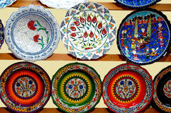 Turkish tile plate Stock Photography