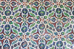Turkish tiled wall Stock Photography