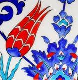 Turkish tiles - Tulip design Royalty Free Stock Image