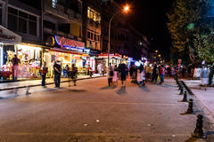 Turkish Town At Night Royalty Free Stock Photography
