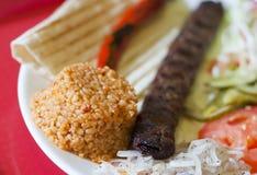 Turkish tradition meal - Adana kebab Stock Image
