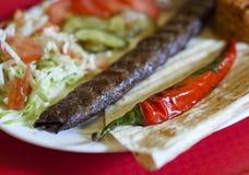 Turkish tradition meal - Adana kebab Royalty Free Stock Images