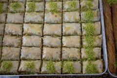 Turkish traditional baklava desert at the Market Royalty Free Stock Photography