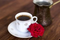 Turkish traditional coffee stock photo