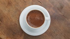 Turkish Traditional Coffee. On wooden table Royalty Free Stock Photos