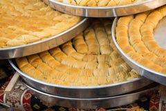 Turkish traditional baklava desert at the Market Stock Images