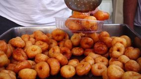 Turkish Traditional Dessert Donut Lokma. Video stock video