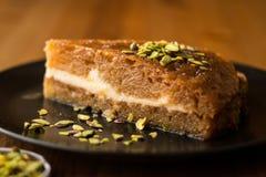 Turkish Traditional Dessert Ekmek Kadayifi / Bread Pudding Royalty Free Stock Image
