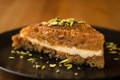 Turkish Traditional Dessert Ekmek Kadayifi / Bread Pudding Stock Photography