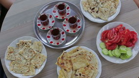 Turkish traditional dinner stock footage