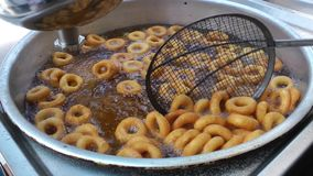 Turkish traditional donut Lokma. Video stock video
