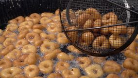 Turkish traditional donut Lokma. Video stock video footage