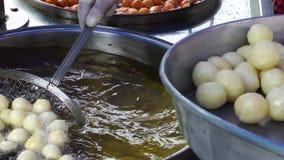 Turkish traditional donut Lokma. Video stock footage