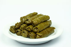 Turkish traditional food. Sarma, Turkish traditional food, stuffed grape leaves royalty free stock images