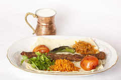 Turkish traditional kebab Royalty Free Stock Photo