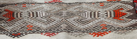 Turkish traditional kilim, geometric patterns Royalty Free Stock Photo