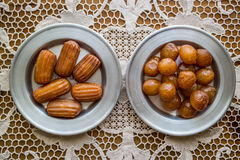 Turkish Traditional Lokma and Tulumba Dessert. Stock Photos