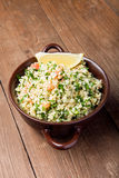 Turkish traditional meal - Taboulé Salad on a wooden table made Royalty Free Stock Photo