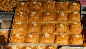 Turkish traditional national tasty desserts Baklava royalty free stock photography