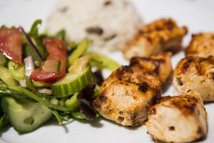 Turkish Traditional Skewer Chicken Kebab Royalty Free Stock Photography