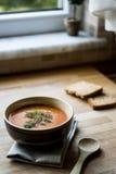 Turkish Traditional Tarhana Soup. Tarhana is very similar to some kinds of kishk Stock Photos