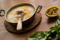 Turkish Traditional Tripe Soup / iskembe corbasi. Stock Photos