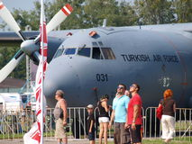 Turkish Transall C-160, Radom, Poland Royalty Free Stock Photography