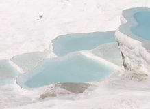 Turkish Travertines of Pamukkale Stock Photo
