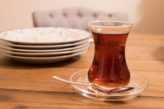 Turkish tree on a table. Turkish tea served on a table Royalty Free Stock Photos